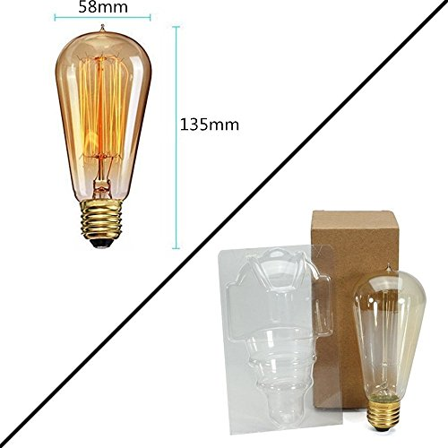 ampoule edison vintage elfeland r tro edison ampoule antique lampe 60w 260lm 220v dimmable. Black Bedroom Furniture Sets. Home Design Ideas