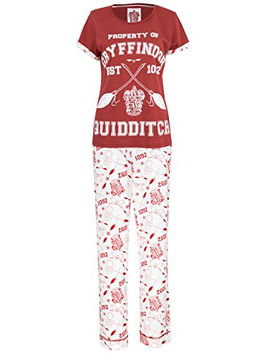 harry potter ensemble de pyjamas harry potter quidditch femme personal gifter. Black Bedroom Furniture Sets. Home Design Ideas