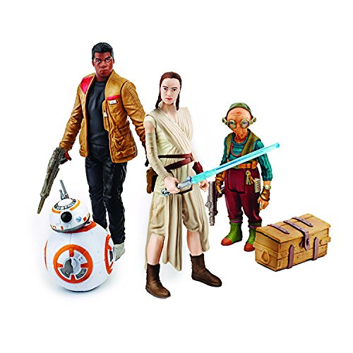 Star Wars Lot de 4 Figurines articulées par Hasbro B6815 - Takodana Encounter - Rey, Finn, Maz Kanata et BB-8 2