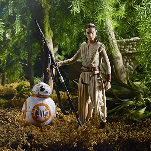 Star Wars Lot de 4 Figurines articulées par Hasbro B6815 - Takodana Encounter - Rey, Finn, Maz Kanata et BB-8 4