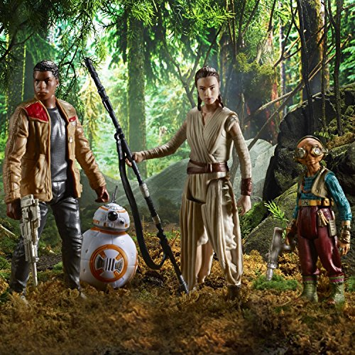 Star Wars Lot de 4 Figurines articulées par Hasbro B6815 - Takodana Encounter - Rey, Finn, Maz Kanata et BB-8 6