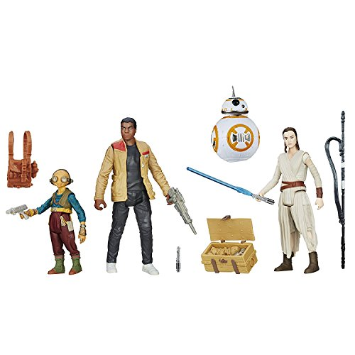 Star Wars Lot de 4 Figurines articulées par Hasbro B6815 - Takodana Encounter - Rey, Finn, Maz Kanata et BB-8 7