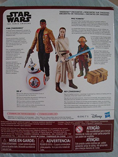 Star Wars Lot de 4 Figurines articulées par Hasbro B6815 - Takodana Encounter - Rey, Finn, Maz Kanata et BB-8 8