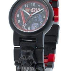 LEGO Star Wars Darth Vader minifigurine-lien - 8020417- Montre Enfant - Quartz Analogique - Bracelet Plastique Multicolore 8