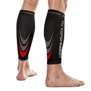 NV Compression 365 Manchons de compression pour les mollets - Noir - Compression Sports Calf Sleeves - Black - For Running, Cycling, Triathlon, Crossfit, Gym 10