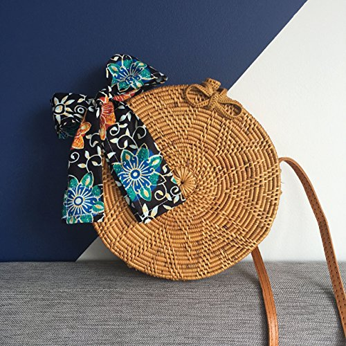 sac rond rotin sac rotin sac paille rond sac rond en rotin round rattan basket bag bohemian. Black Bedroom Furniture Sets. Home Design Ideas
