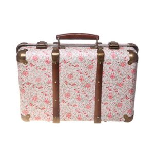 Sass and Belle - Valise Rétro Fleuri Roses 19