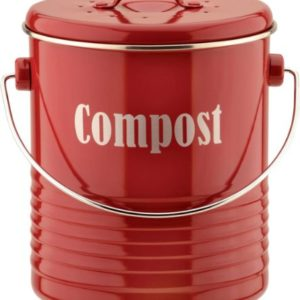 Typhoon Vintage Kit Compost Caddy, Red 55