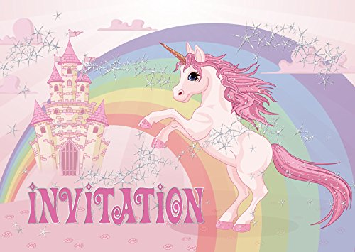10 licorne invitations anniversaire fille lot de 10 cartes d 39 invitation tendres et illustr es. Black Bedroom Furniture Sets. Home Design Ideas