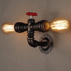 Coquimbo Rétro Eau Vintage Light Pipe Rétro Nostalgie Industrial Wall Lamp Decor Wall Light sans Ampoule 24