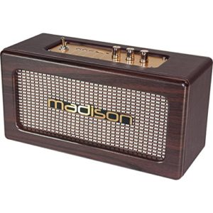 Madison Enceinte Vintage Autonome avec USB/Bluetooth 2x10W FREESOUND-Vintage-WD 26