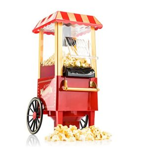 Gadgy ® Machine à Pop Corn | Retro Popcorn Maker | Air Chaud Sans Gras Huile 15