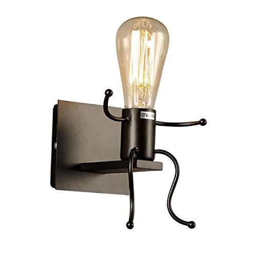 kawell cr atif r tro applique murale int rieur vintage lampe murale industriel lampe de mur fer. Black Bedroom Furniture Sets. Home Design Ideas