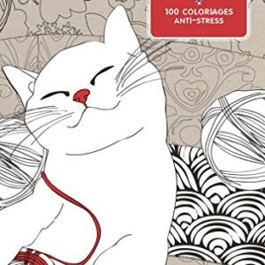 Chat thrapie 100 coloriages anti stress 0 300x300 - stress, bien-etre - Chat thérapie: 100 coloriages anti-stress