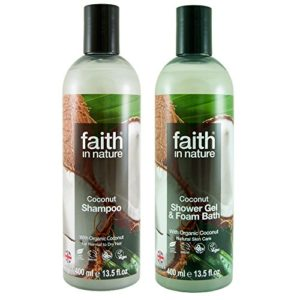 Faith In Nature Coconut Shampoo 400ml and Body Wash 400ml Hair & Body Duo | Vegan Friendly | Cruelty Free | 99% Natural Fragrance | Free From SLS or Parabens 63