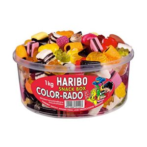 HARIBO Bte 1 Kg bonbons gélifiés aux fruits COLOR-RADO 10