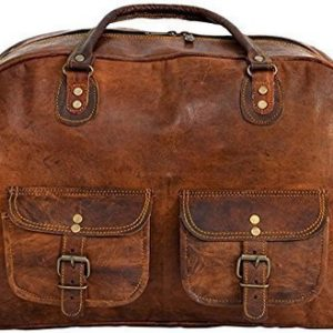 Shakun Leather sac de voyage vintage, sac de sport, sac d'excursion, NOUVEAU 11