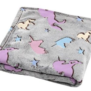 Lovely Casa Licorne Plaid Phospho, Polyester, Multicolore, 160 x 130 cm 15