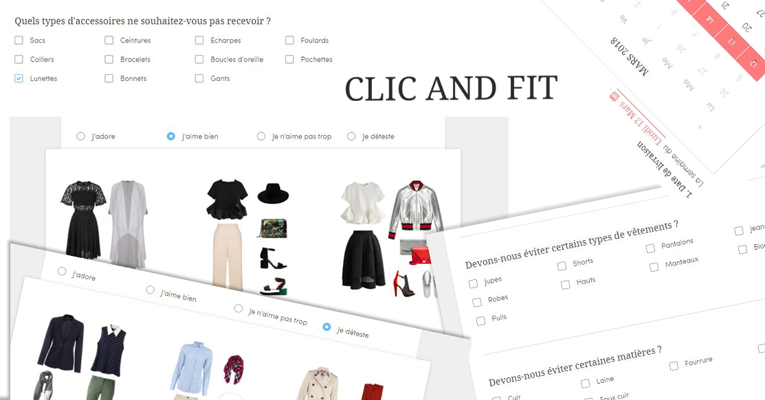 clic and fit formulaire - tests, mode - Unboxing Clic and Fit - Personal Gifter ouvre avec vous !