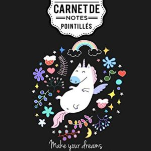 Carnet de notes pointills A4 Licorne Dot point bullet journal dot grid 160 pages couverture souple finition matte bullet journal planner planning organizer journal 0 300x300 - ecole, licorne, passion - Carnet de notes pointillés A4 Licorne Dot point, bullet journal, dot grid: (160 pages, couverture souple finition matte, bullet journal, planner, planning, organizer, journal)