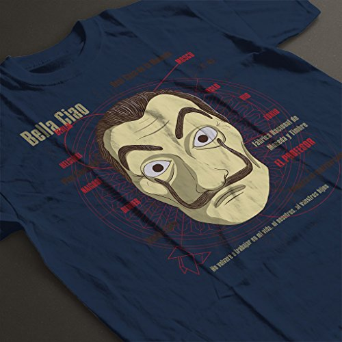 Cloud City 7 le CASA de Papel Heist Mask Mens T Shirt 0 2 - la-casa-de-papel, serie, cinema - Cloud City 7 le CASA de Papel Heist Mask Men's T-Shirt