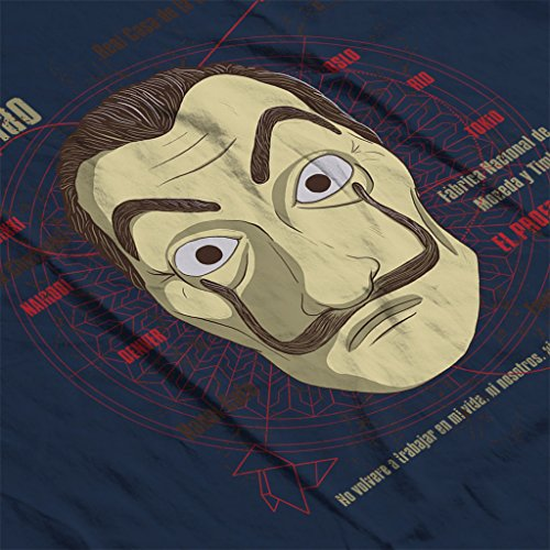 Cloud City 7 le CASA de Papel Heist Mask Mens T Shirt 0 3 - la-casa-de-papel, serie, cinema - Cloud City 7 le CASA de Papel Heist Mask Men's T-Shirt