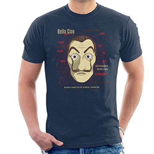 Cloud City 7 le CASA de Papel Heist Mask Mens T Shirt 0 - la-casa-de-papel, serie, cinema - Cloud City 7 le CASA de Papel Heist Mask Men's T-Shirt