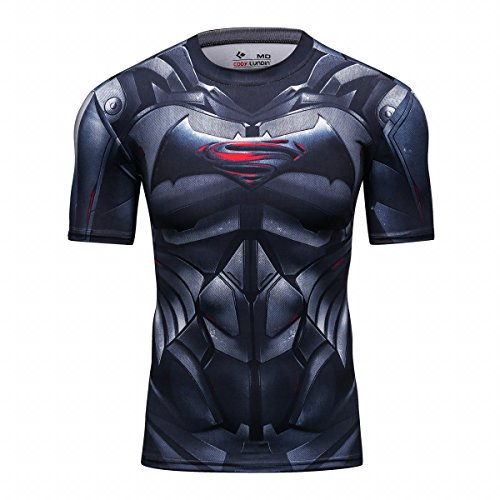 Cody Lundin Chemise Manches courtes Homme Superhros vs Bat hros Sport Fitness Exercice Running T Shirt 0 - running, sport - Cody Lundin Chemise Manches courtes Homme Superhéros vs Bat héros Sport Fitness Exercice Running T-Shirt