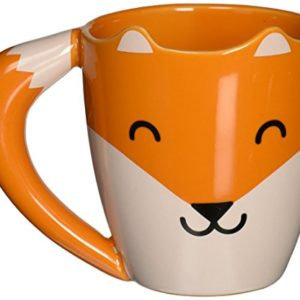 thumbs Up! - Fox Mug - Tasse Céramique en forme d'un renard - queue est le poignée - orange - 275ml - 0001317 7