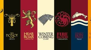 Poster Game of Thrones Sigils (Blasons) (91,5cm x 30cm) 16