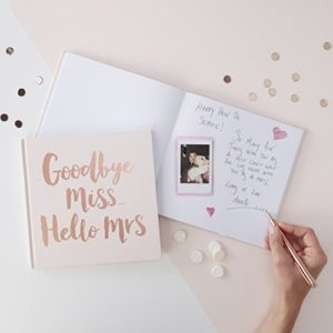 ROSE GOLD FOILED GOODBYE MIS. HELLO MRS ADVICE BOOK - TEAM BRIDE 16