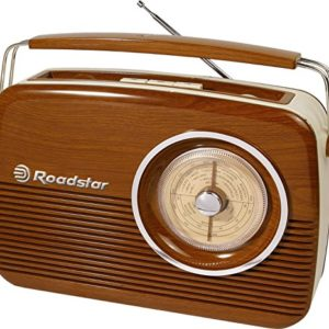 Roadstar TRA-1957/WD Radio Retro Portable Marron 3