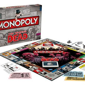 Monopoly THE WALKING DEAD-Version Française, 0952, aucune 90