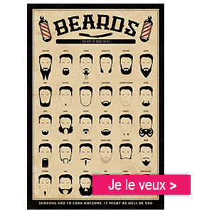 affiche hypster personalgifter - barbe, lifestyle - AFFICHE CUSTOM BARBER SHOP @ KUSTOM FACTORY
