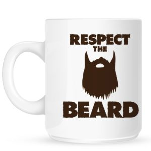 RealSlickTees Tasse Inscription Respect The Beard 12