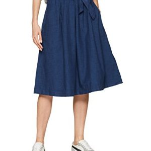 Vero Moda Vmace HR Pleat Below Knee Skirt, Jupe Femme 6