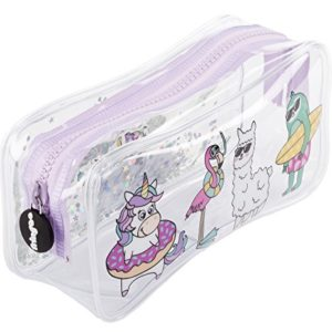 FRINGOO - Trousse souple transparente - Papeterie - Grande pochette - Cadeau pour adolescents Large Dream Team 60