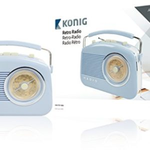 König HAV-TR710BU Retro-Design AM/FM-Radio blau 68