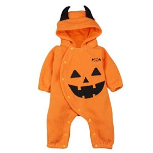 Le SSara Halloween citrouille Jumpsuit Hooded Noël barboteuse tenues 9