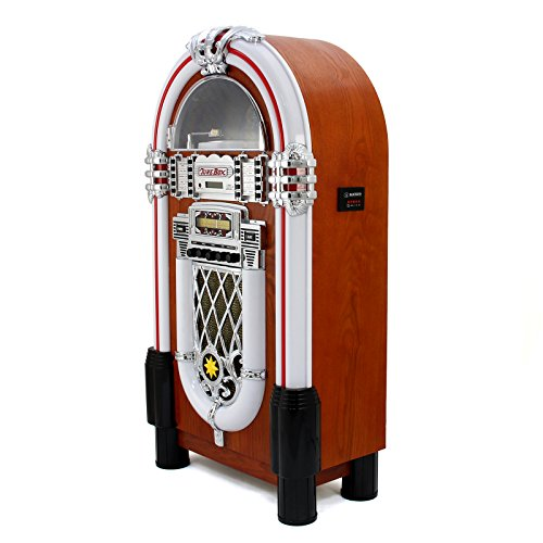 Retro Vintage Jukebox 1950s Rock Roll Style LED Lighting CD Player AMFM Radio SDMMC memory cards Bluetooth USB AUX 0 2 - vintage, lifestyle - Retro Vintage Jukebox 1950's Rock & Roll Style LED Lighting / CD Player, AM/FM Radio, SD/MMC memory cards, Bluetooth, USB, AUX
