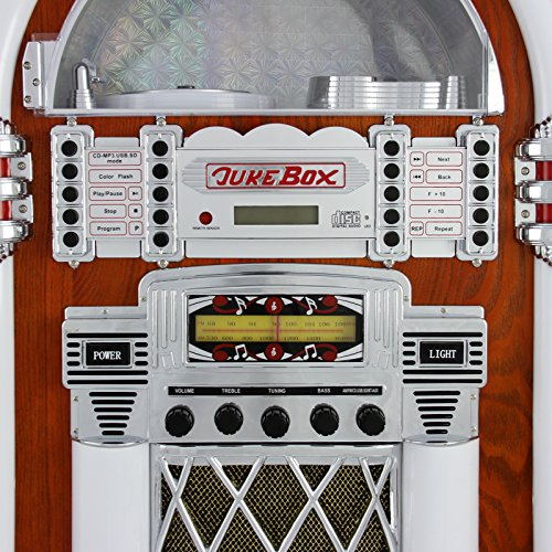 Retro Vintage Jukebox 1950s Rock Roll Style LED Lighting CD Player AMFM Radio SDMMC memory cards Bluetooth USB AUX 0 3 - vintage, lifestyle - Retro Vintage Jukebox 1950's Rock & Roll Style LED Lighting / CD Player, AM/FM Radio, SD/MMC memory cards, Bluetooth, USB, AUX