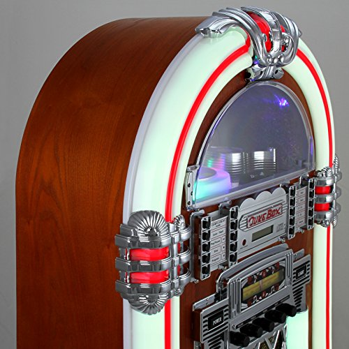Retro Vintage Jukebox 1950s Rock Roll Style LED Lighting CD Player AMFM Radio SDMMC memory cards Bluetooth USB AUX 0 4 - vintage, lifestyle - Retro Vintage Jukebox 1950's Rock & Roll Style LED Lighting / CD Player, AM/FM Radio, SD/MMC memory cards, Bluetooth, USB, AUX
