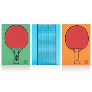 Suck UK Carnet de Tennis de Table – Lot de 3 5