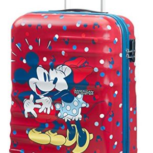 American Tourister Disney Wavebreaker - Spinner 55/20 Bagage cabine, 55 cm, 36 liters, Multicolore (Minnie Loves Mickey) 69