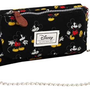 Disney Classic Mickey Moving Porte-Monnaie, 20 cm, Noir (Negro) 68