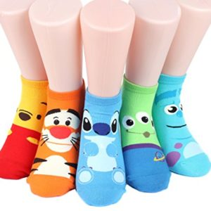 Disney Rascal Sneakers Women's Socks 5 pairs Made in Korea 10
