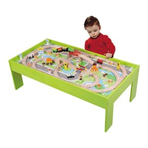 WOOD N PLAY - Table Et Circuit Train Bois 52