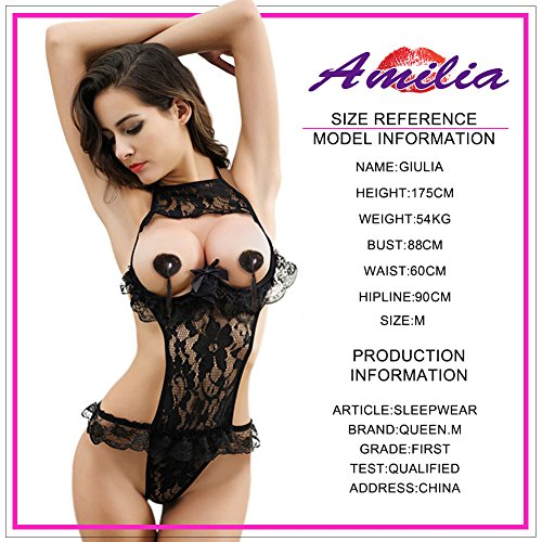 Amilia Sexy Ligerie Dentelle Sling Open Cup Floral Sexy Lingerie Dentelle Nighty 3
