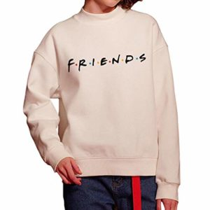 Femmes Pullover Mode Friends Print Sweat-Shirt Dames Slouch Pull À Manches Longues Pull Col Rond Tops Loisirs Élégant Pull À Capuche Pull 5 Couleurs S-XL 13