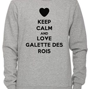 Keep Calm And Love Galette Des Rois Unisexe Homme Femme Sweat shirt Jersey Pull over Gris Toutes Les Tailles Mens Womens Jumper Sweatshirt Pullover Grey All Sizes 0 300x300 - lifestyle, galette-des-rois - Keep Calm And Love Galette Des Rois Unisexe Homme Femme Sweat-shirt Jersey Pull-over Gris Toutes Les Tailles Men's Women's Jumper Sweatshirt Pullover Grey All Sizes